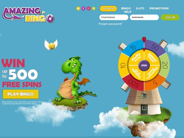Amazing Bingo Free Spins No Deposit