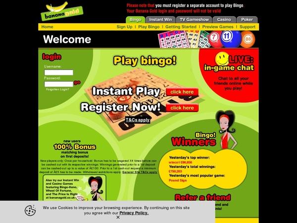 Bananabingo Online Casino Reviews