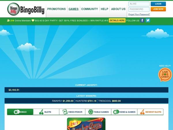 Bingo Billy Welcome Bonus