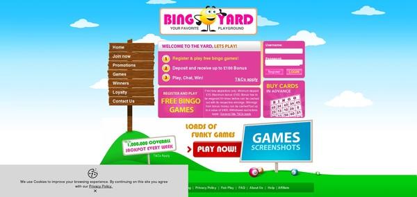 Bingo Yard Scratch Games
