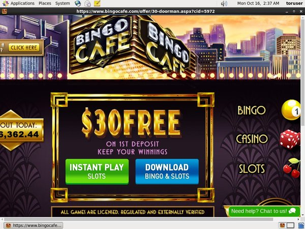 Bingocafe New Customers Bonus