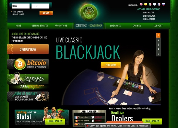 Celticcasino Welcome Offer