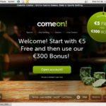 Comeon Deposit Bonus Code