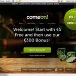 Comeon No Deposit Bonus Code