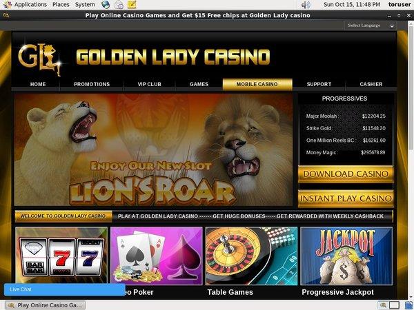 Deposit Paypal Golden Lady Casino