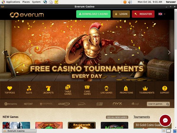 Everum Casino Sign Up Deal