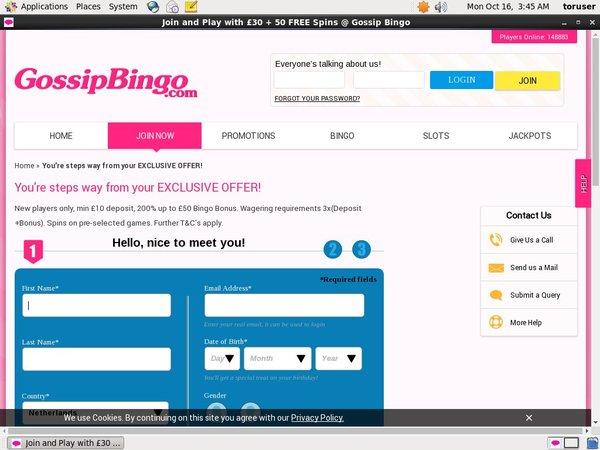 Gossip Bingo Scratch