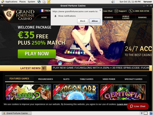 Grand Fortune Casino Welcome Bonuses
