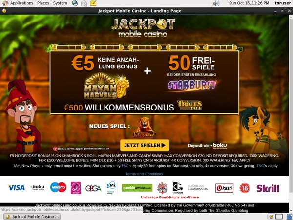 Jackpot Mobile Casino Free Spins No Deposit