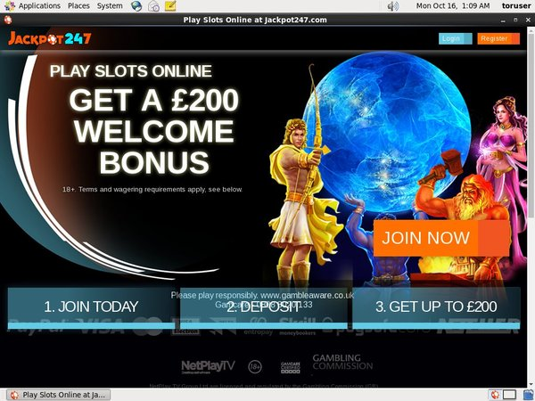 Jackpot247 Desktop Site Login