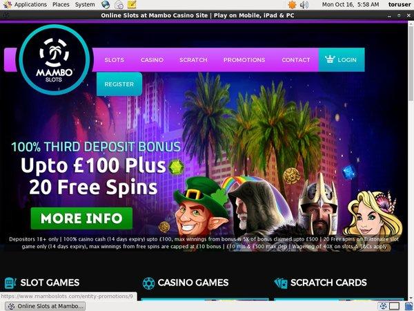 Mambo Slots Bonusu