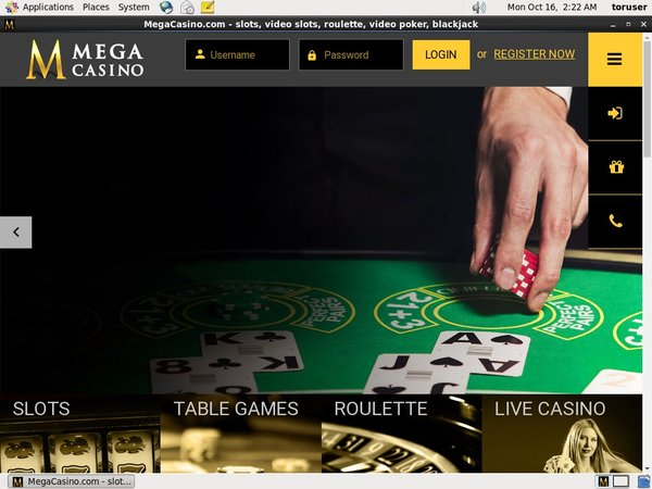 Mega Casino Free Account
