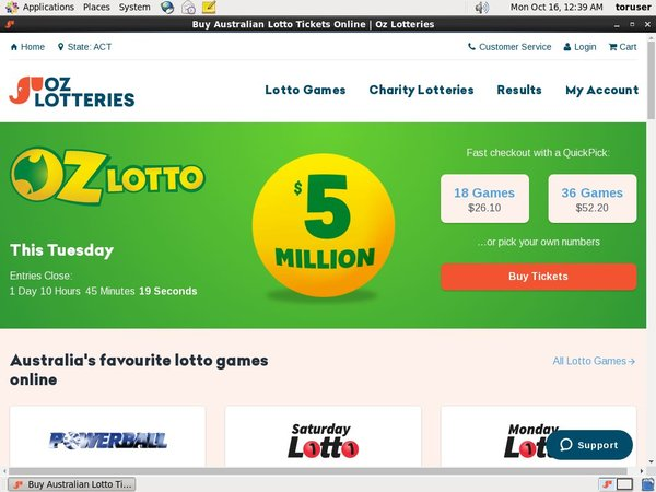 Oz Lotteries Neo Surf
