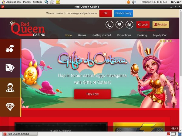 Red Queen Casino Joining Bonus