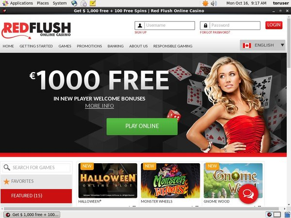 Redflush With Credit Card