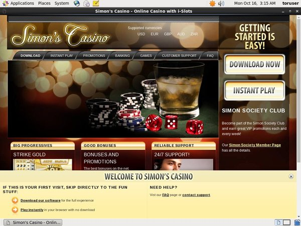 Simon Says Casino Moneybookers