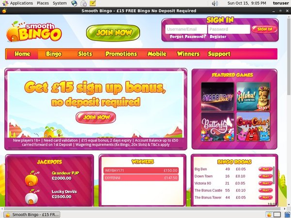 Smooth Bingo Full Site