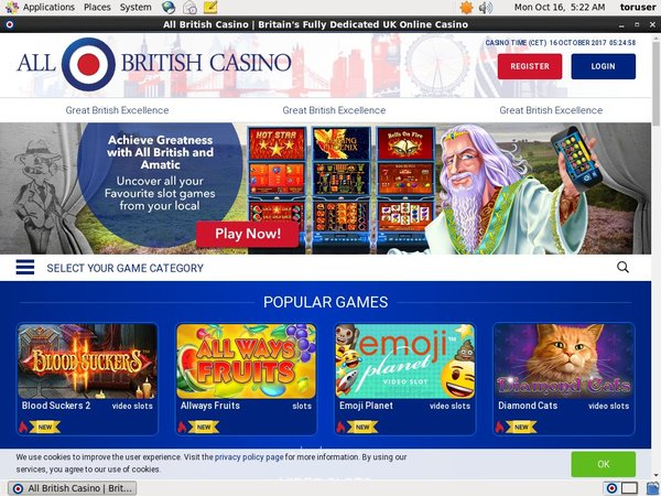 All British Casino Visa Card