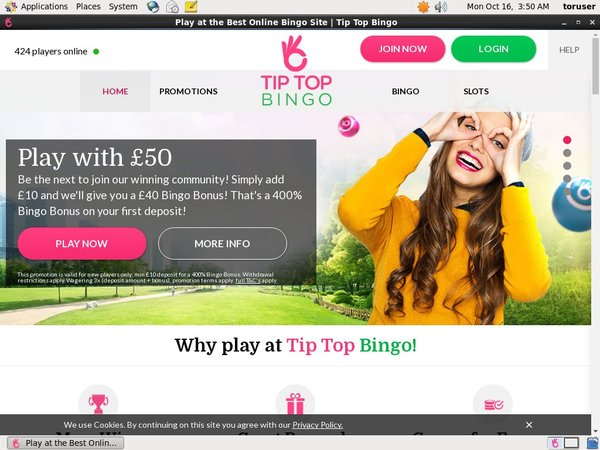 Tip Top Bingo Telephone Betting