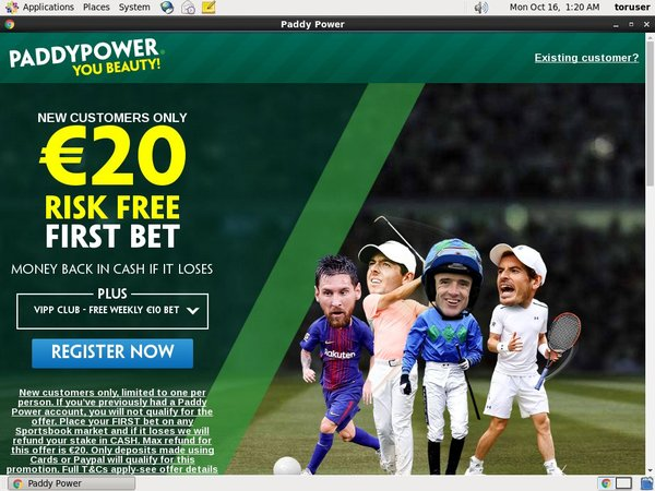 Paddypower Fast Bank Transfer