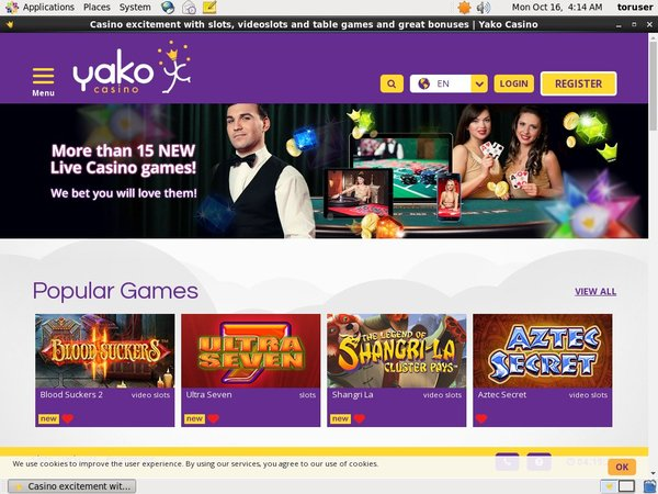Welcome Yakocasino Bonus