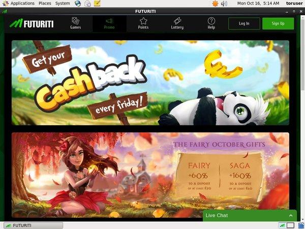 Futuriti Casino New Customer Promo