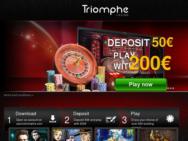 Triomphe Casino Welcome Package