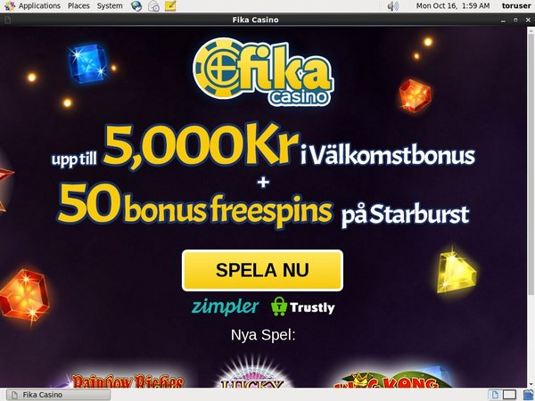 Fika Casino Fast Bank Transfer