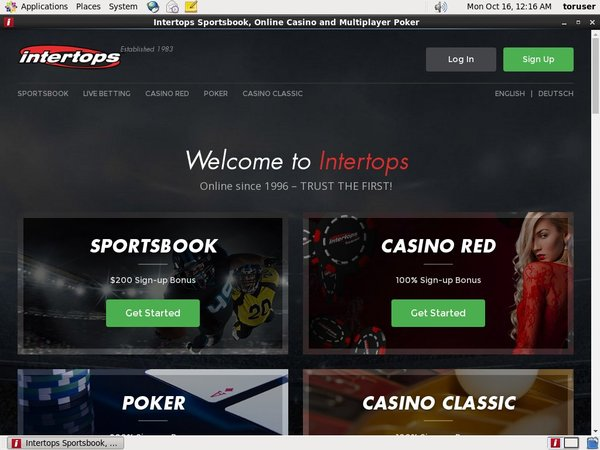 Create Intertops Account