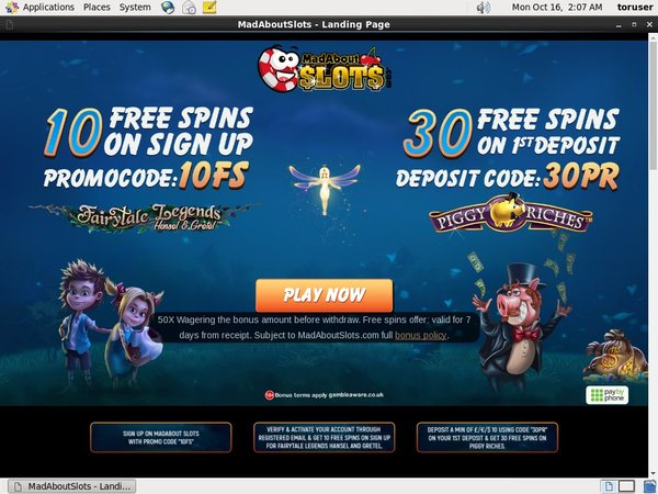 Madaboutslots Casino Bonus Uk