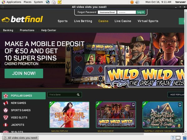 Betfinal Casino Vip Sign Up
