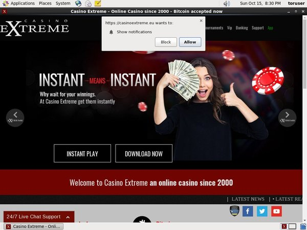 Casinoextreme Registrese