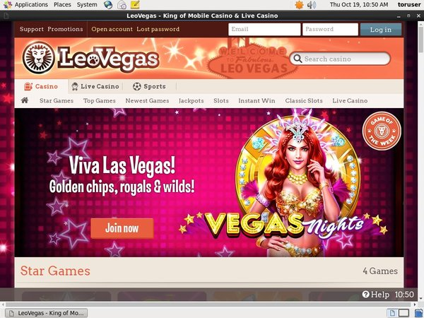 Leovegas Join Form