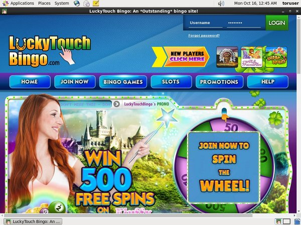 Lucky Touch Bingo Pay By Mobile