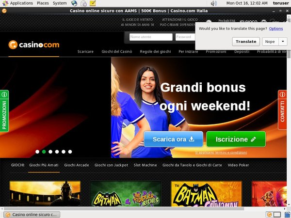Casino.com Italian Pay With Paypal