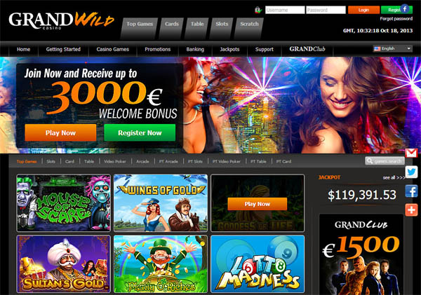 Grand Wild Casino Gambling Bonuses