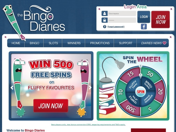 Bingo Diaries Playtech