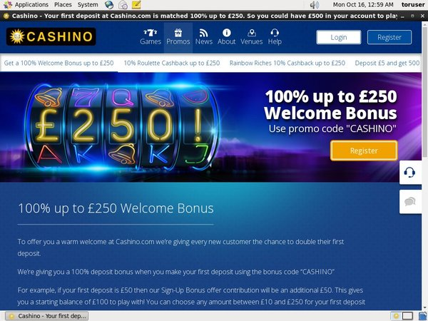 Cashino Pounds No Deposit