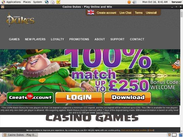 Casino Dukes Highroller Bonus