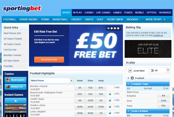 No Deposit Sportingbet
