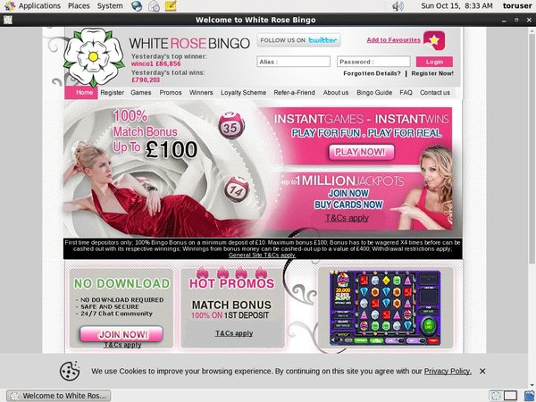 White Rose Bingo Pay Vision