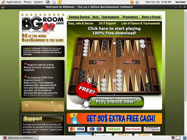 BG Room Get Free Spins