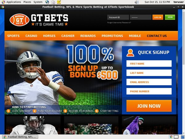 GT Bets Football Introductory Offer
