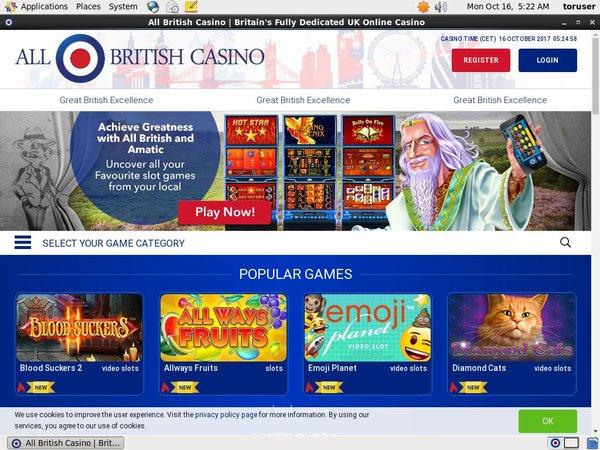 All British Casino Best Bonus