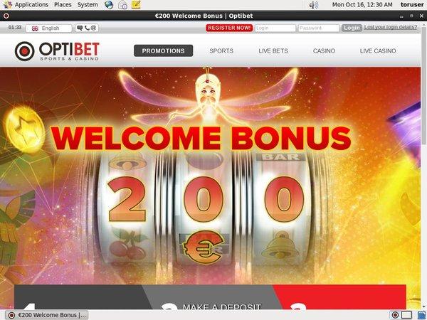Optibet No Deposit Required