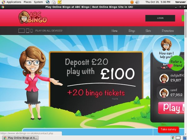 ABC Bingo Promotion Code