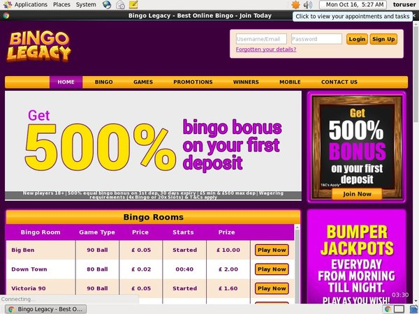 Bingo Legacy Website