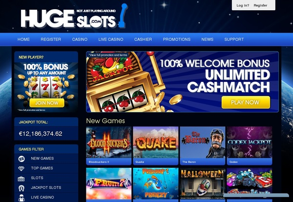 Hugeslots Join Up Offer