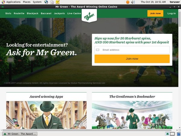 Mr Green Sign Up Bonuses