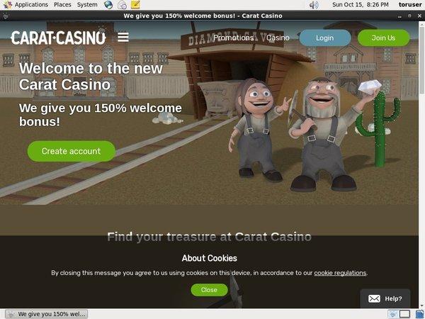 Carat Casino Create New Account